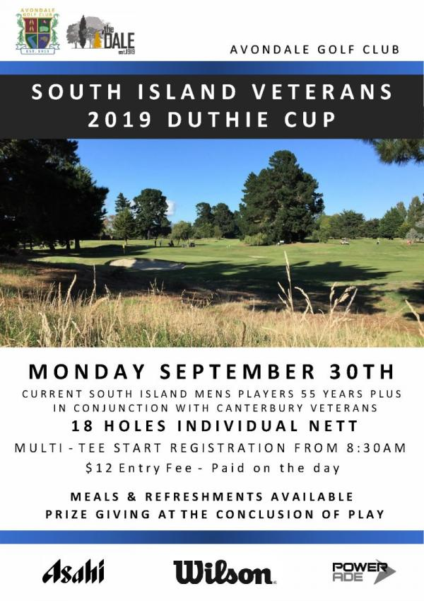SI Vets Duthie Cup